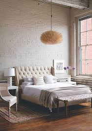 brick wallpaper bedroom soft industrial chic with brick effect wallpaper lobster and swan