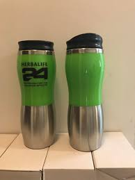herbalife24 coffee travel mug 450ml double wall thermos stainless