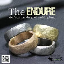 rustic mens wedding bands custom endure men s wedding band josephk jewelers