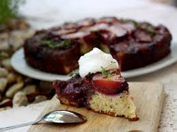 plum upside down cake with thyme lemon and fennel recipes