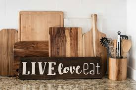 live love eat quote salvaged wood pallet sign kitchen decor