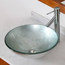 elite 1308 2659c modern tempered glass bathroom vessel sink with