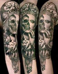 half human half skeleton image design idea for and
