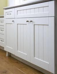 Shaker Beadboard Cabinet Doors - style 122 shaker beadboard panel cabinet door pictured with slab