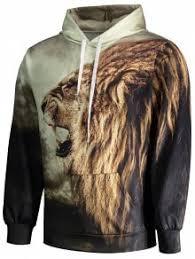 lion print hoodie colormix hoodies u0026 sweatshirts l zaful