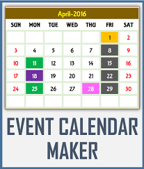 Excel Event Calendar Template Calendar Excel Templates Printable Calendars For Any Year