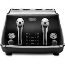 Toasters Delonghi Delonghi Icona 4 Slice Toaster Black Cto4003b Big W