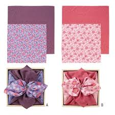 furoshiki japanese wrapping cloth 2 pieces kusuyama