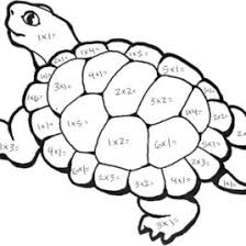 coloring pages color number multiplication free math free