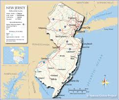 Map Of States With Capitals by Reference Map Of New Jersey Usa Nations Online Project
