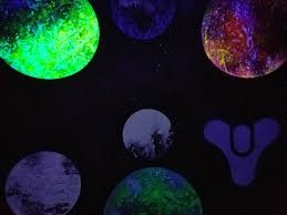 black light spray paint the old planet selection screen from destiny i made with spray