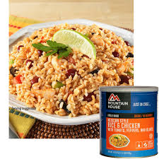 mountain house freeze dried mexican style rice u0026 chicken 10 can