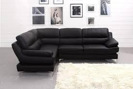 Black Leather Corner Sofa Soft Leather Corner Sofa Buildsimplehome