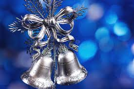 decoration with silver bells stock photography image