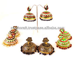 jhumka earrings online handmade meenakari jumka earring jhumka earrings indian