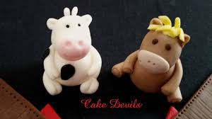 barn u0026 farm animal fondant mini cake topper kit handmade edible