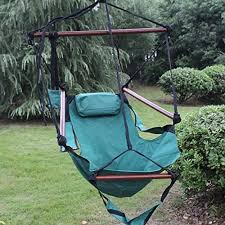 sunnydaze 24 inch wide hanging hammock chair green 250 lbs