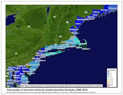 Map Of Northeast Us Tropical Cyclone Climatology