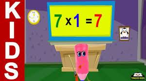 homeschool tutorial 7 times table song kids math online