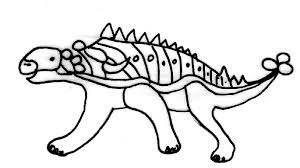 coloriage dinosaures dessin 2 tête à modeler
