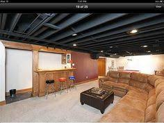Painting Drop Ceiling by Awesome Painted Basement Ceilings Basement Pinterest