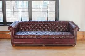 Distressed Chesterfield Sofa Vintage Distressed Burgundy Leather Chesterfield Sofa For Sale At