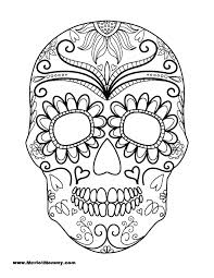 printable coloring pages sugar skulls sugar skull coloring pages skulls coloring pages sugar skull