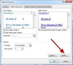Change Table Style Word Ensuring That Word Tocs Create Hyperlinks In Acrobat