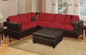 Microfiber Sofa Sectionals Fantastic Red Microfiber Sofa With Red Microfiber Faux Leather