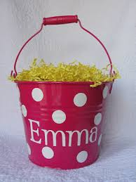 monogrammed easter buckets imperfectly beautiful monogrammed easter buckets