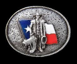 Cowboys Flag Texas Flag Cowboy Western Belt Buckle