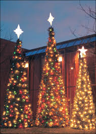 Outdoor Garland With Lights by Outdoor Garland Trees World Class Christmas