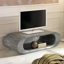 Esszimmertisch Oval Schwarz Designer Fernsehtisch Plurana Oval Aus Stein Pharao24 De