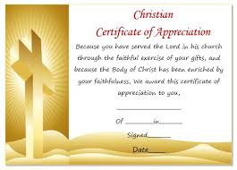 Christian Certificate Template christian certificate of appreciation template pastor appreciation