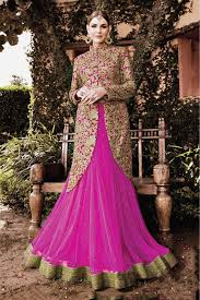 Pink Colour by Wedding Wear Lehenga Suit In Pink Colour