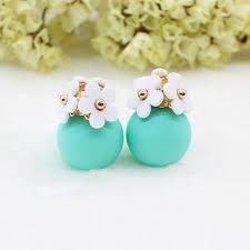 sided stud earrings sided floral stud earrings top tier style