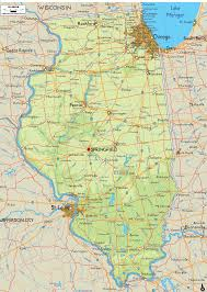 Map Of Central Illinois by Physical Map Of Illinois Ezilon Maps