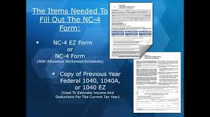 how to complete a nc 4 ez form youtube