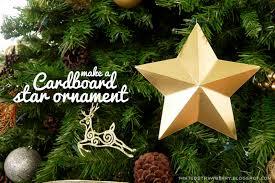 diy cardboard star ornaments minted strawberry