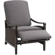 Wicker Reclining Patio Chair Espresso Patio Chairs Patio Furniture The Home Depot