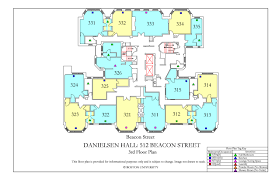 Concert Hall Floor Plan Danielsen Hall Floor Plan Housing Boston University