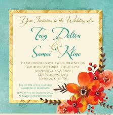 wedding invitations johnson city tn bold flowers wedding invitation unique personalized card text