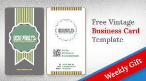 beautiful free business card design template in vector format ai