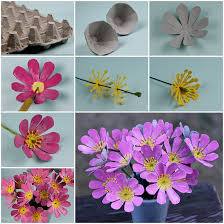 egg craft butterfly flowers