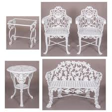Refinish Iron Patio Furniture by Sold A Suite Of Robert Wood Cast Iron Patio Furniture Gray U0027s
