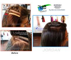 strand by strand hair extensions poorly applied hair extensions