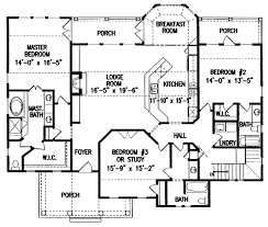 mountain lodge floor plans mountain lodge with views 15687ge architectural designs house