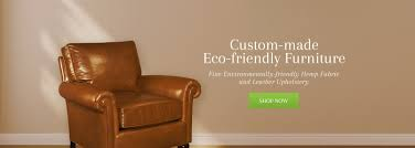 Leather And Fabric Sofa In Same Room Ecoselect Furniture Is Eco Friendly Hemp And Non Toxic Leather
