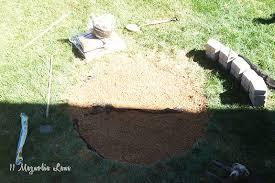 Gravel Fire Pit Area - how to build a diy a backyard fire pit 11 magnolia lane