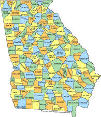 counties map county map ga counties map of